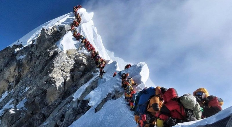 How long does it take to climb up and down Mount Everest?