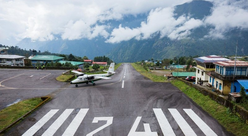 The world's most dangerous airport in Nepal: Lukla